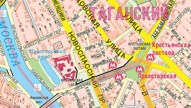 Карта. Дорога до Новоспасского