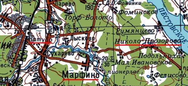 Карта проезда к усадьбе